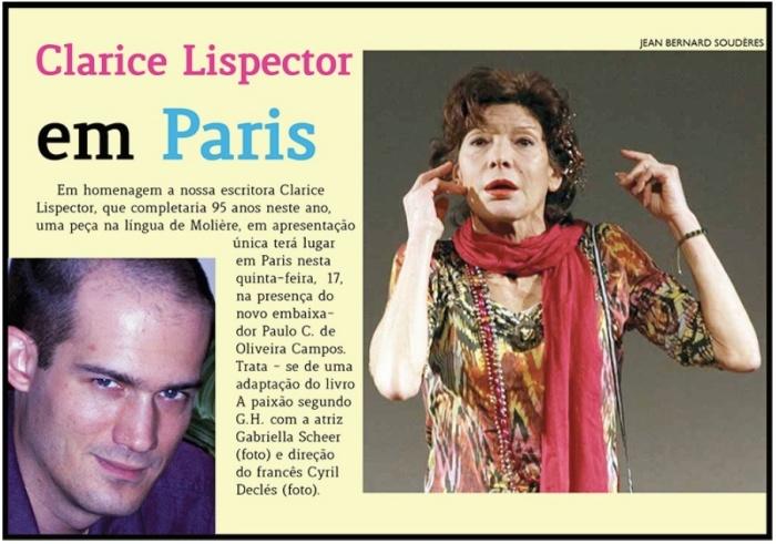 Raice Cabral - Clarice Lispector em Paris